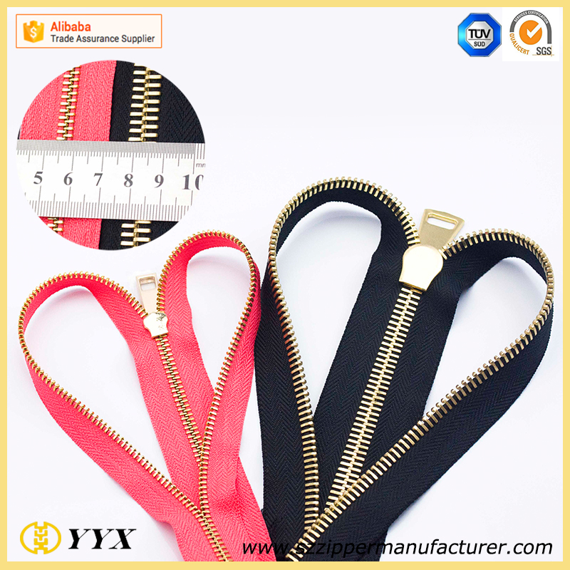 Fashionable Cheap Auto Lock Brass Metal Zipper