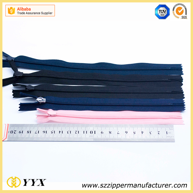 direct factory wholesale #3 invisible zipper for lady dress