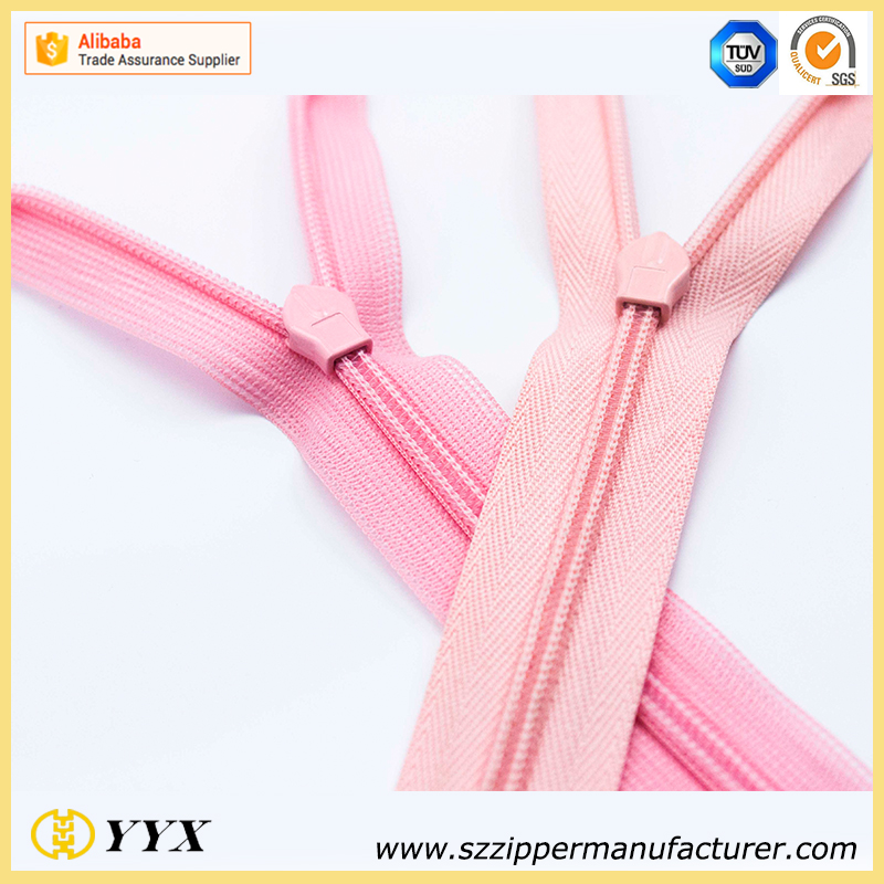 factory direct high quality good price nylon invisible zippers for garment and h