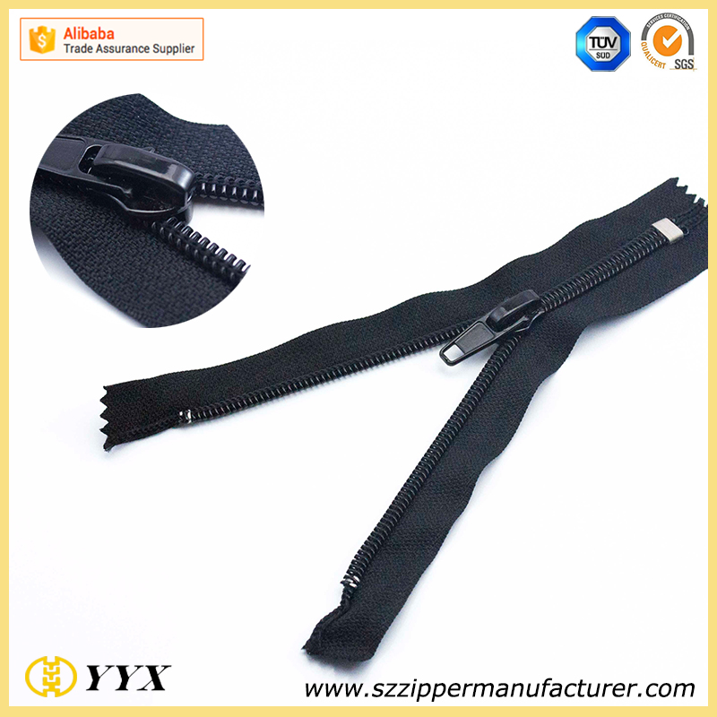 Close End 5 Invisible Zipper Lace Nylon For Bags