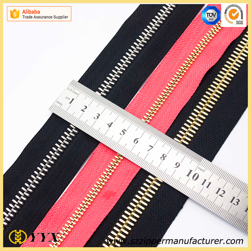 Long Chain metal Zipper Roll High Quality Hot Selling Different size metal long