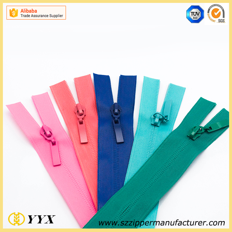 Good quality open end manufacturer plastic nylon zipper