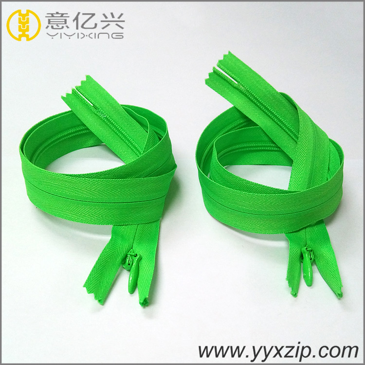garment price inquire for close end invisible continuous zippers