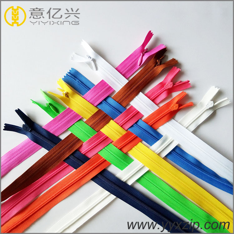invisible zippers wholesale nylon zipper for evening dress