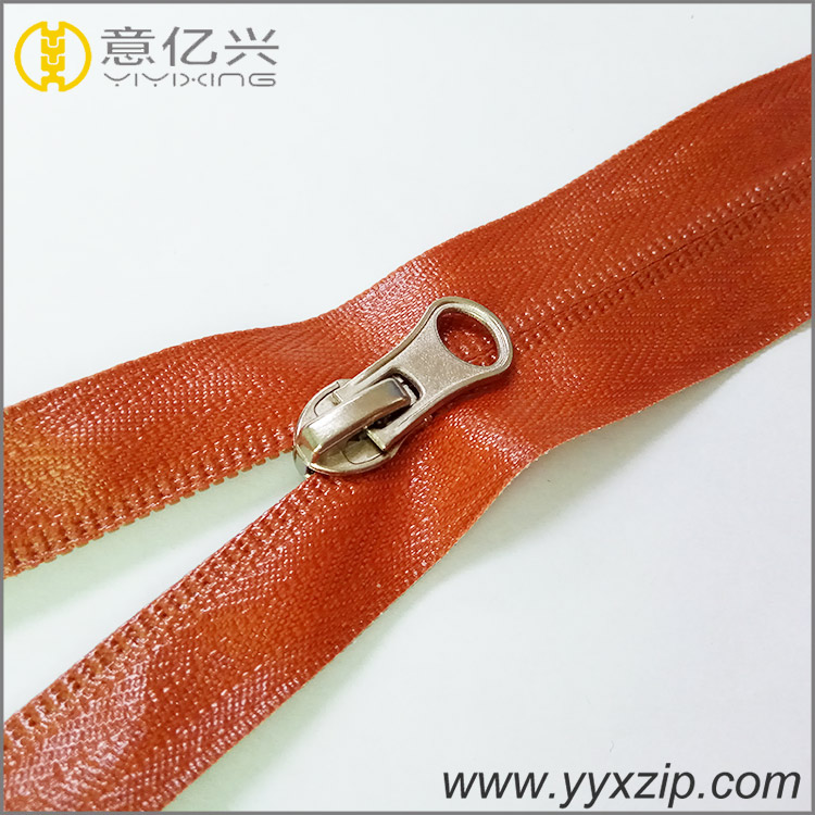 Customized size airtight long chain TPU waterproof nylon orange zipper