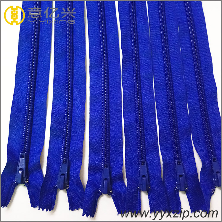 China Manufacturer Brand Custom Nylon Colorful Clothing Nylon Coil Zipper for Ga