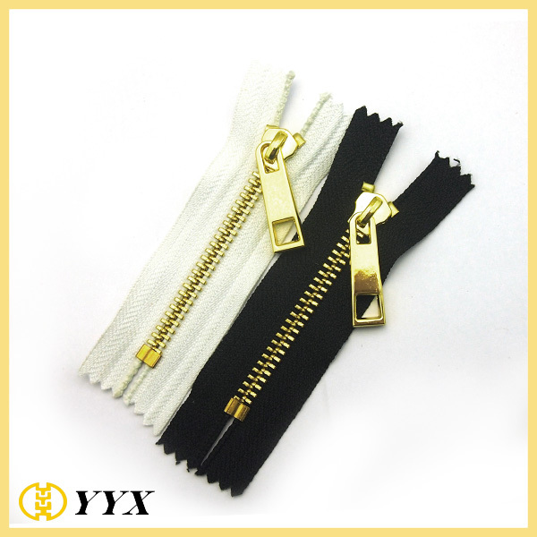 Cheap factory wholesale #5 closed end metal zipper with discount