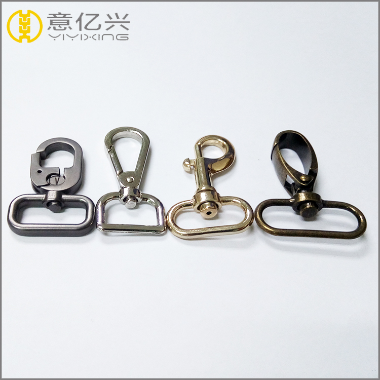 Bag Metal Accessories Parts of Brass Dog Swivel Snap Hook for Lanyard