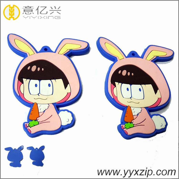 Promotional Silicone Cartoon Keychain Rubber Key Chain