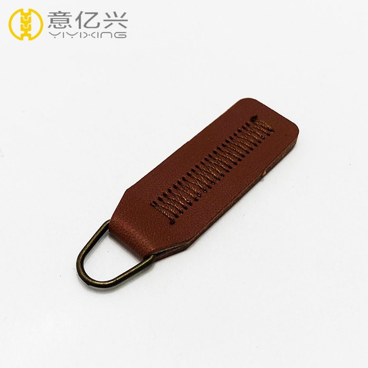 OEM available strong eco-friendly custom leather zipper puller