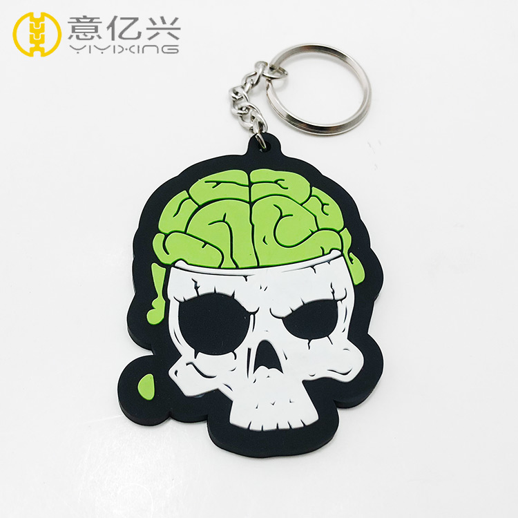 cheap promotional silicone keychain design rubber key chain