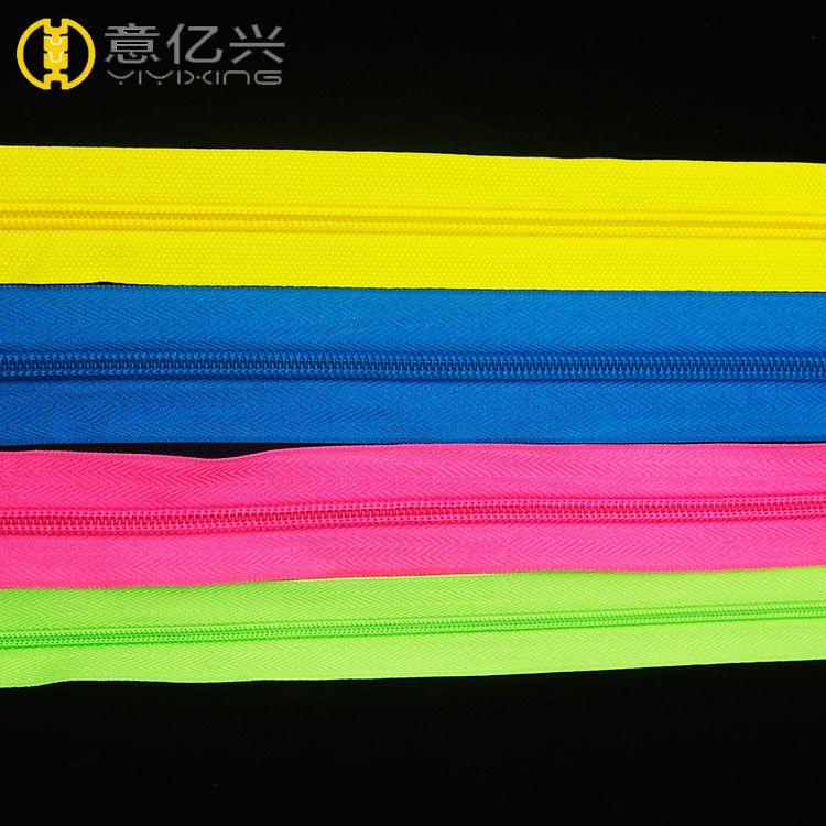 Colorful Teeth Nylon Zippers Long Chain Nylon Zipper Rolls 5#