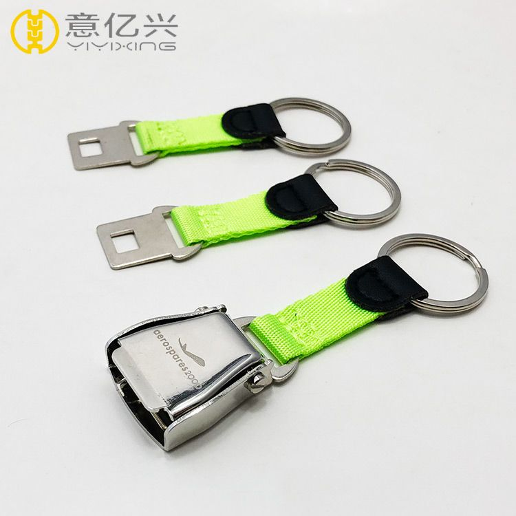 High quality iron seatbelt buckle keychain for airline