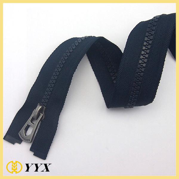 heavy duty #7 long chain resin zipper for tent