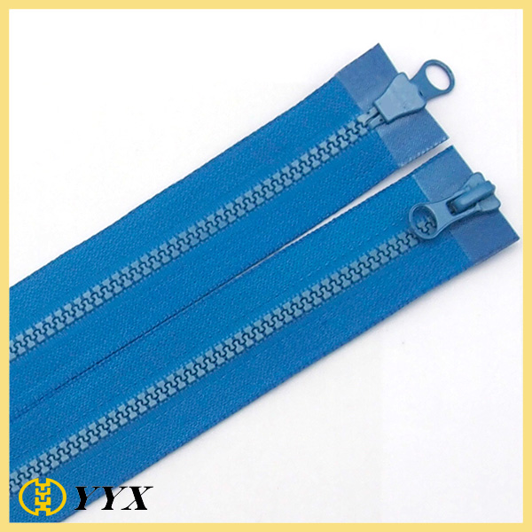 #5 double Open end plastic zippers for luggage bags