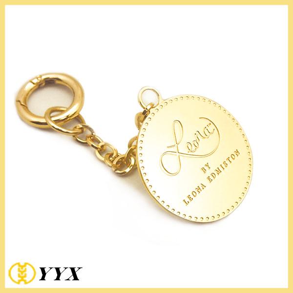 Custom fabric key ring kiss before flight embroidery key chain