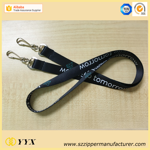 Newest fashion two belt double clip sublimation high end airbus lanyard