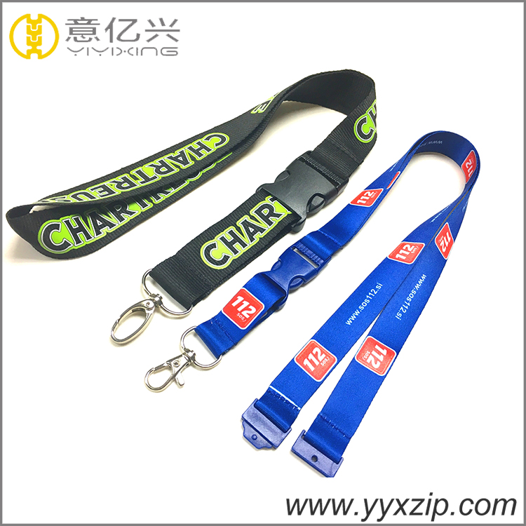 Silk neck promotion for sublimation and sillk screen lanyard