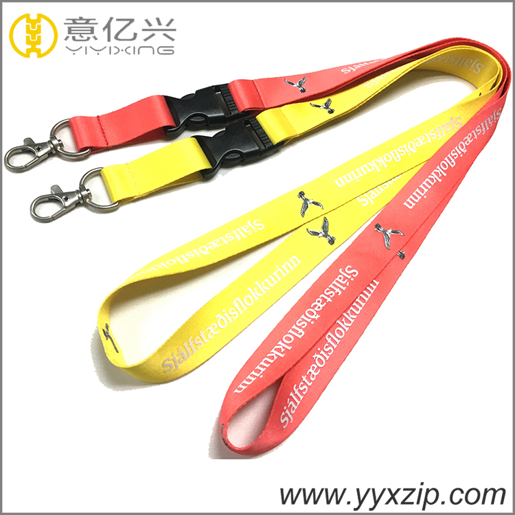 Embroidered lanyards durable hunting disposable lanyard for sale