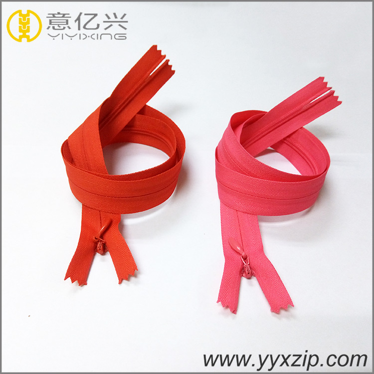zipper factory #3 mess tape polyester tape close end invisible zipper