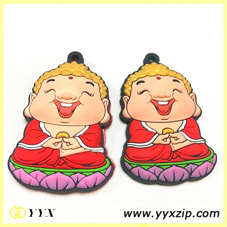 Customized Kids Plastic Badge Soft Rubber PVC Silicone Badge Logo Brand