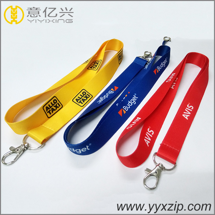 personalized logo cheap neck printed custom polyester lanyards with id card hold