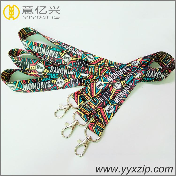 Cheap work id card heat imprint fashion promotion key neck lanyard wholesale