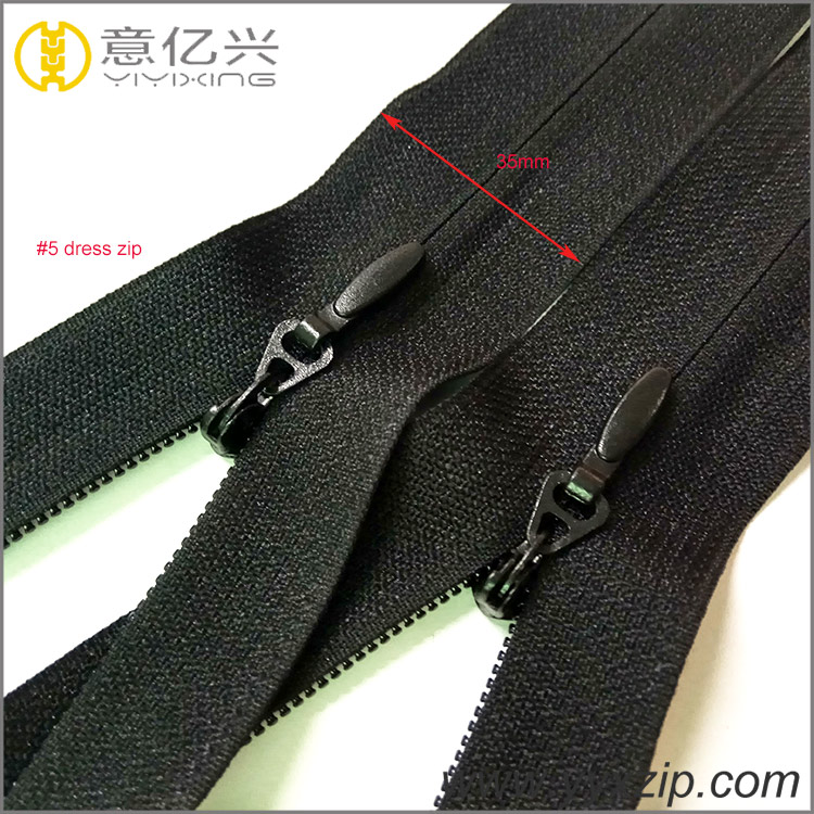 Eco-friendly #5 Black Invisible Nylon Zipper for Sewing Garment
