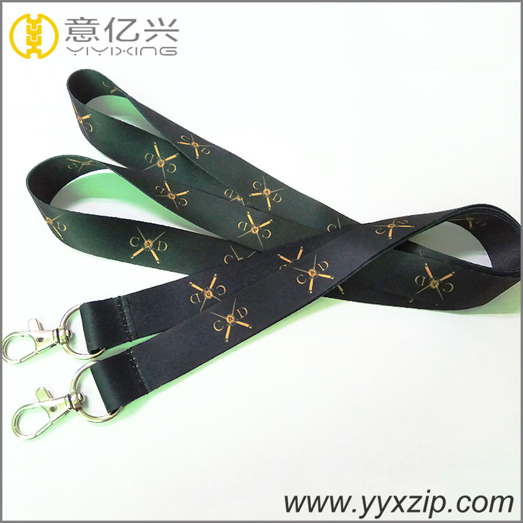 sublimation product/ heat transfer printing lanyard with metal lobster hook