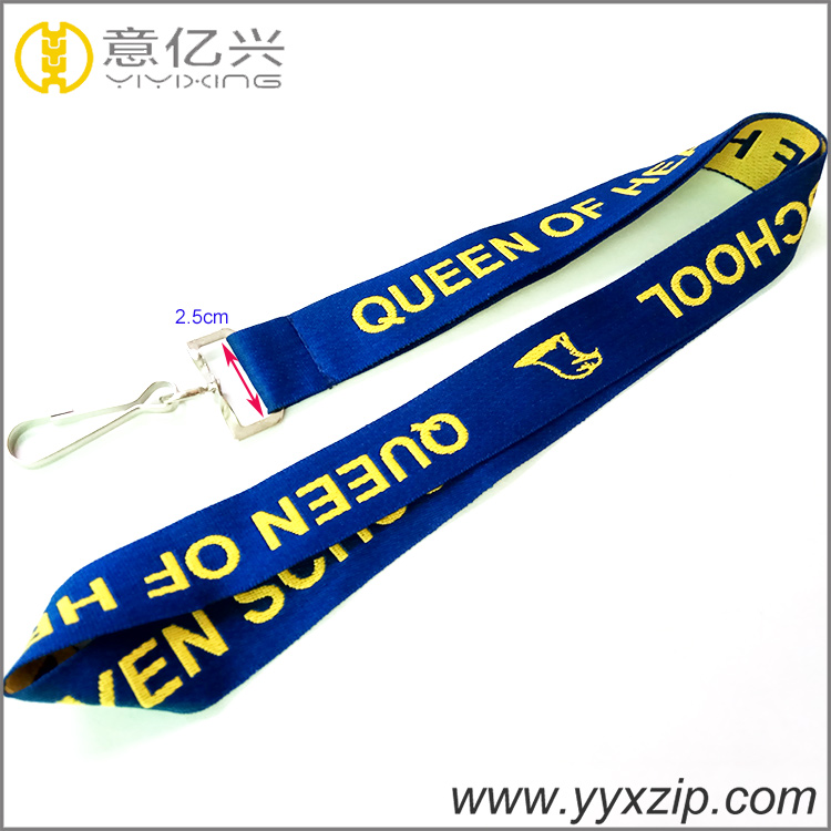 custom accessories metal hook double layer embroidery lanyard cheap designer jac