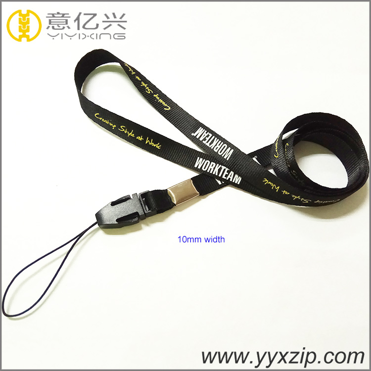 High quality small 10mm neoprene neck rope badge holder narrow lanyard for schoo