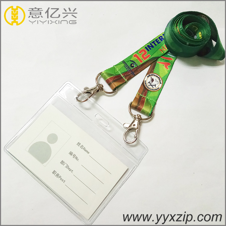 Keychain long sublimation tape id card neck lanyard for school