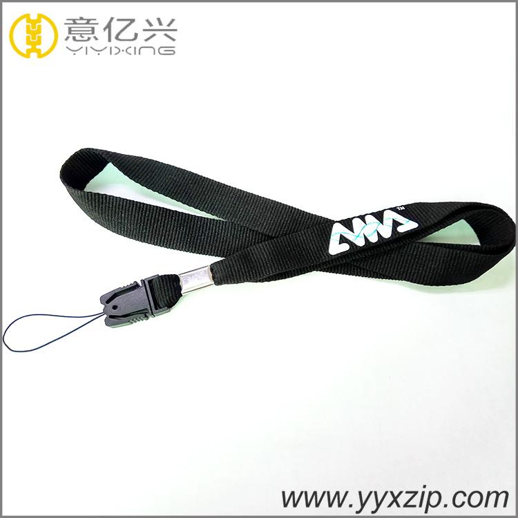 High quality 15mm wide silkscreened custom plastic cellphone loop lanyard