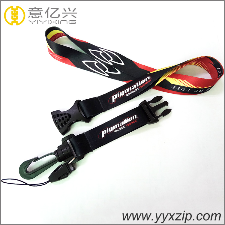 Branded printing great lanyard for black plastic inster buckle safety lanyard