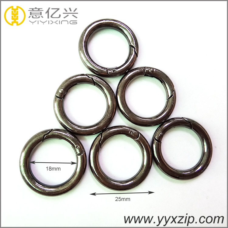 easy open carabiner ring metal O ring adjuster metal strap ring