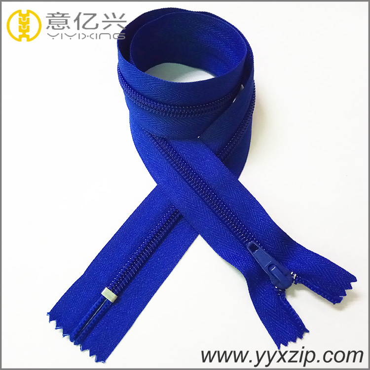 promotion custom close end #5 dark blue nylon zipper for dry suit zipper