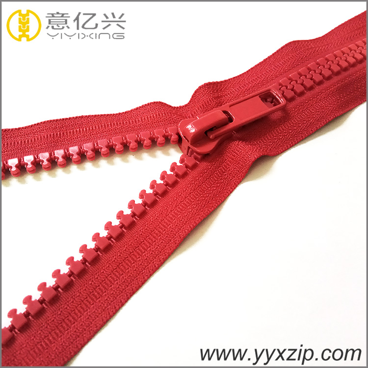 high quality direct long chain finish plastic zipper 5# professional zipper for