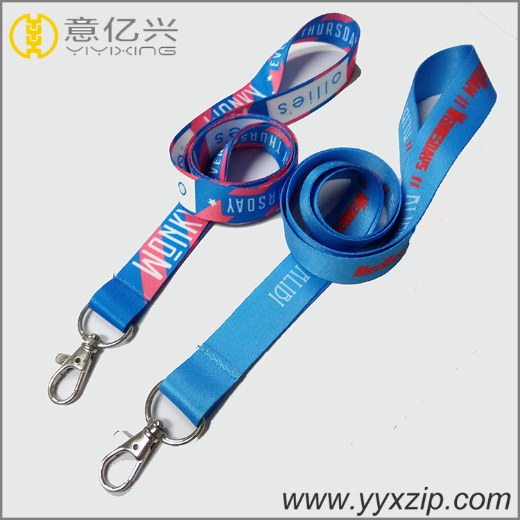 Full color sublimation / heat transfer lanyard with pvc clear pouch card holder