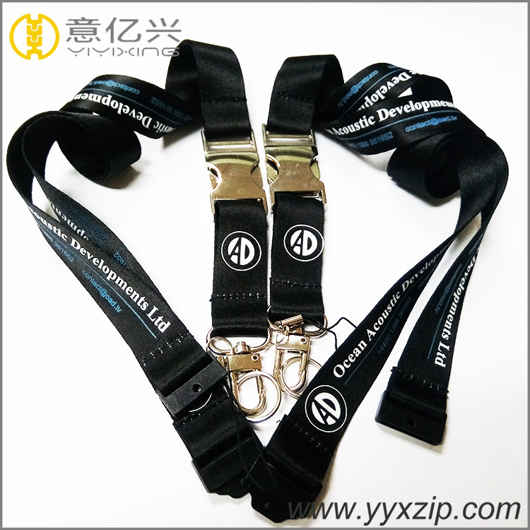 customized polyester lanyard with silk screen logo cheap custom lanyards with lo