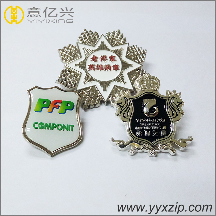 Hot sale custom metal black nickel hard enamel lapel pin