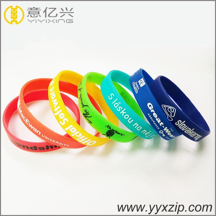 Custom Logo Promotion Gift Silkscreen Print Silicon Wristband