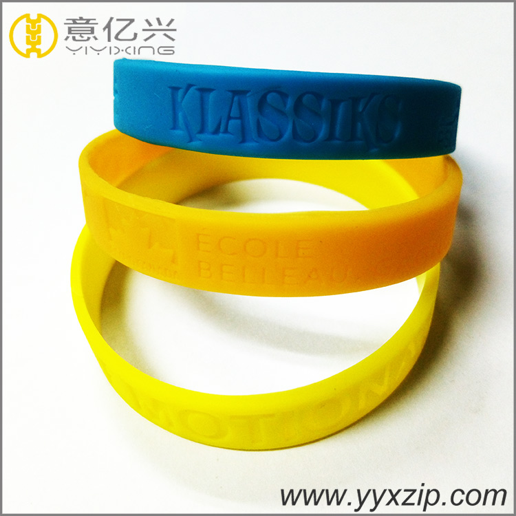 High quality cheap custom personalized debossed logo silicone bracelets with you