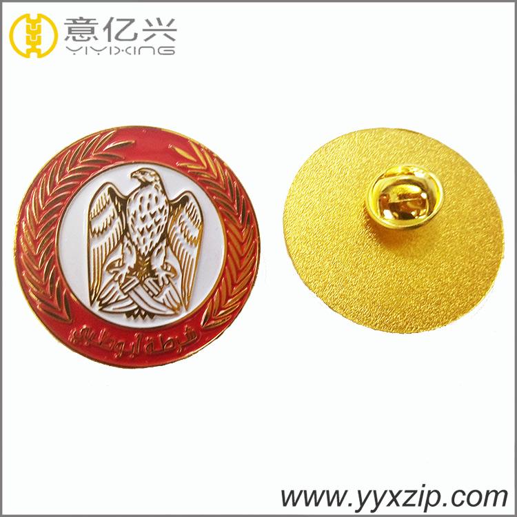 newest design colorful plating metal custom lapel badge pin