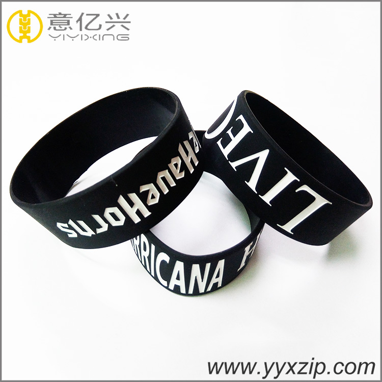 Wholesale custom bulk cheap silicone wirstband/debossed silicone bracelet