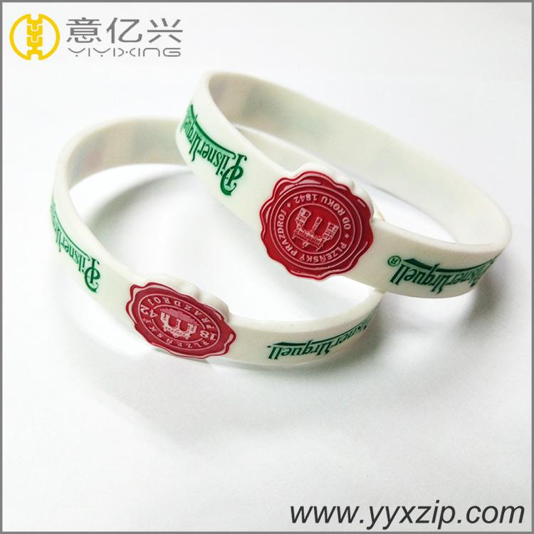 custom promotional abnormal shape silicone rubber bracelet