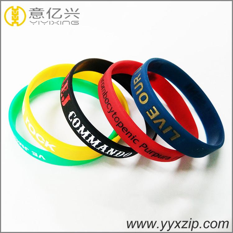 Personalisable Friendship Sport Custom Bangles Silicon Bracelet