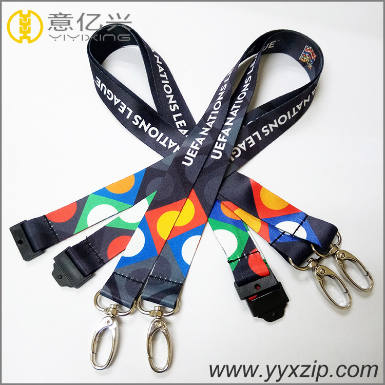 China factory custom made badge holder lanyards with brand