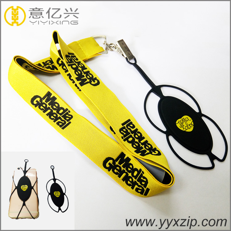 hot sale detachable cell phone holder jacquard lanyard with case