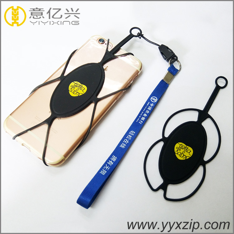 silicone 20cm short lanyard cell phone strap holder