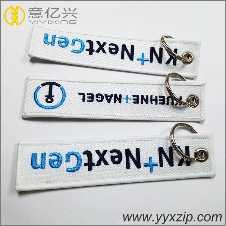 Customized Keychain Embroidery Felt Key Ring Holder